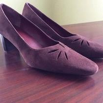 Naturalizer Size 8.5m Brown Suede Heels Shoes Cut Outs Euc Photo