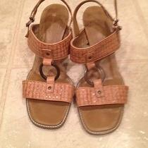 Naturalizer Tan Light Brown Camel Shoes Heel Sandals Leather Slingback Galveston Photo