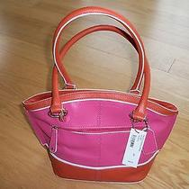 Naturalizer Trudy 2 Purse Magneta/orange All Leather Photo