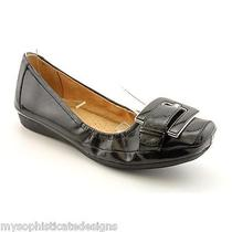 Naturalizer Women's Black Patent Flats Size 6m Ballet Cute Black Photo