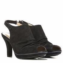 Naturalizer Women's Dooley Dress Black Microfiber Sandals Photo