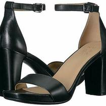 Naturalizer Women's Joy Heeled Sandal Black Leather Size 7.0 Bwqt Photo