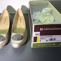 Naturalizer Womens Danity Pale Gold Closed Toe Slide Flats Size 9m Photo
