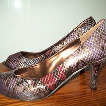 Naturalizer Womens High Heel Multi-Color Silverpurplerust Size 8 M Photo