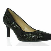 Naturalizer Womens Natalie Fern Green Embroidered Lace Pumps Size 9.5 (1402941) Photo