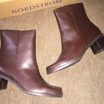 Naturalizer Womens Size 8 Boots Brown Heeled Nib Bootie Leather Photo