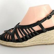 Naturalizer Womens Wedge Heel Peep Toe Casual Espadrille Black Size 7 Photo