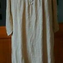 Nature Republic Gold Sparkly Sheer Mini Dress/long Top Size 10/12 Nwot Photo