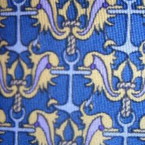 Nautical Hermes Tie With Anchors and What Looks Like Leaping Dolphins Photo