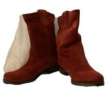 Nautralizer Red Suede Boots Basha Size 6.5 Photo
