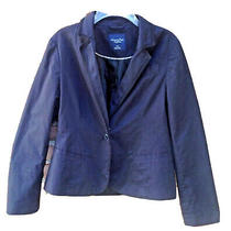 Navy Blue Blazer American Eagle Size Large Casual Classic Jacket  Photo