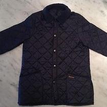 Navy Blue Extra Large Children's Barbour Jacket  Photo