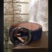 Navy Blue Gucci Belt Photo