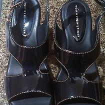 Navy Blue Retro Sandals by Tommy Hilfiger Photo