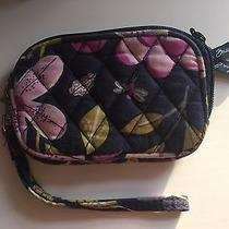 Navy Blue Vera Bradley Floral Wristlet Photo