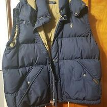 Navy Blue Vintage Ralph Lauren Vest Puffer (Rare Polo Rl & Co) With Hood Photo