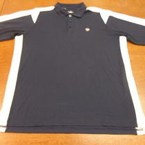 Navy Blue/white Under Armour Heat Gear Polo Shirt Large Photo