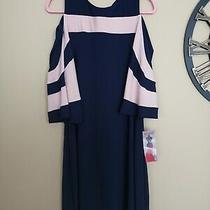 Navy / Blush Nina Leonard Dress Size M Photo