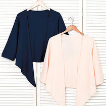 Navy/blush Women's Ladies Top Work Dress Set of 2 Cardigan Stylish Wrap Xl 18/20 Photo