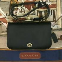 Navy Bonnie Cashin 9755 Coach Pocket Purse All Leather Brass Toggle & Turn Lock Photo