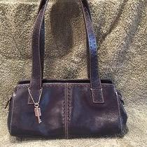 Navy Fossil Leather Handbag/purse Photo