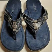 Navy Leather Minnetonka Sandals Size 7 Photo