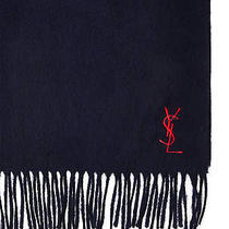 Navy/red Yves Saint Laurent Ysl Wool Scarf Womens Made in Italy 100% Authentic Photo
