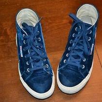 Navy Velvet Superga Hightops Sneakers Size Us 5 Euro 37 Very Good Condition Photo