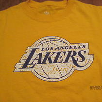Nba Los Angeles Lakers Screened Team Logo Adidas  T- Shirt Photo
