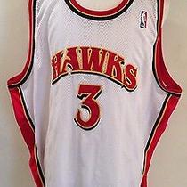 Nba Reebok Authentic Atlanta Hawks Shareef Abdur-Rahim Basketball Jersey Sz 60 Photo