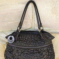 Near New 2000 Auth Fendi Ruched Lambskin Leather Shoulder Bag Tote Purse  Photo
