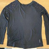 Near New Armani Jeans Black Long Sleeve Top Womens Size 38 Photo