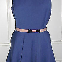 Near New Blue/pink Peter Pan Collared & Belted Scooter Playsuit by Top Shop Sz12 Photo