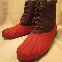 Nearly New  J. Crew  Us 10  Insulated Leatherwinter Duck Boots Photo