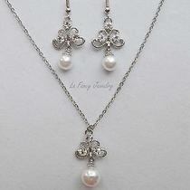 Necklace & Earrings Set Australia Swarovski Wedding Jewelry N1252 Photo