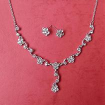 Necklace & Earrings Set Clear Swarovski Wedding Jewelry N3094 Photo