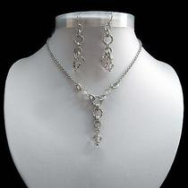 Necklace & Earrings With Shadaw Crystal Swarovski Crystal Beads N1255 Photo