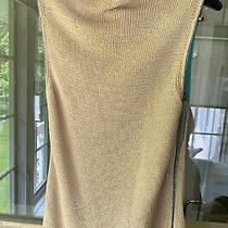 Neiman Diane Von Furstenberg Dvf Blush Sleeveless Knit Vest Sweater Top Large L Photo