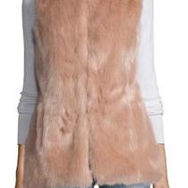 Neiman Marcus Faux Fur Vest Blush S Photo