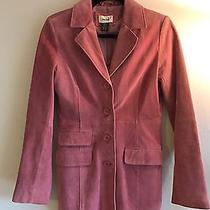 Neiman Marcus - Pale Blush Pink 100% Suede Blazer Jacket - Size S Photo
