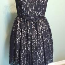 Neiman Marcus Robert Rodriguez Black Lace Strapless Short Formal Crinoline 8 Nwo Photo