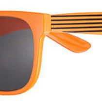 Neon Bright Color Square Flat Top Shades Super Retro Black Stripes Sunglasses Photo