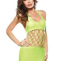 Neon Green  Halter Style Mini Dress by Fantasy Lingerie  One Size New  Photo