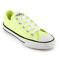 Neon Yellow Converse Low Tops Womens 8 Mens 6 Photo