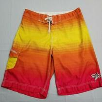 Neon Yellow Pink Orange Billabong Surf Board Shorts Trunks 32 See Description Photo