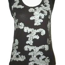 Net a Porter Robert Rodriguez  Sequined  Embellished 100% Linen Knit Top Small Photo