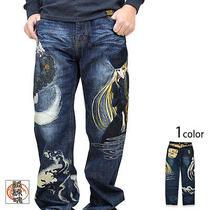 Network Galaxy Express 999 Maetel Embroidered Denim Pants Indigo 34 Inch Op066 Photo