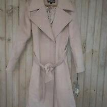Neumann Marcus Karl Lagerfeld Blush Tan Trench Winter Coat Nwt Photo