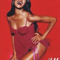 Never Used h&m 2004 Red Babydoll Nightie Lingerie Naomi Campbell Campaign Photo