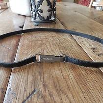 Never Worn Authentic Chanel Black Leather Belt Photo